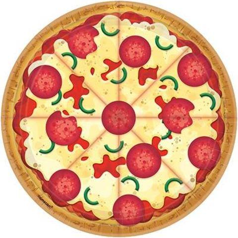Тарелки большие Пицца, 8 штук