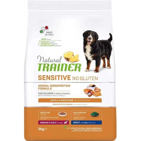Сухой корм для собак TRAINER Natural Sensitive Medium & Maxi при аллергии, лосось (для средних и крупных пород)