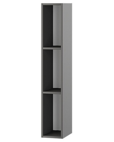 Пенал АЛЬБЕРО настенный открытый графит серый