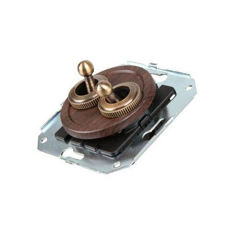 Выключатель тумблерныйный четырёх позиционный для внутреннего монтажа проходной. Цвет Венге. Salvador. CL51WG