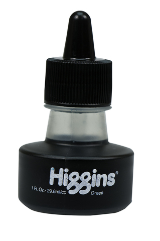 Пигментные водостойкие чернила HIGGINS GREEN Pigment-Based 1OZ, 29,6 мл