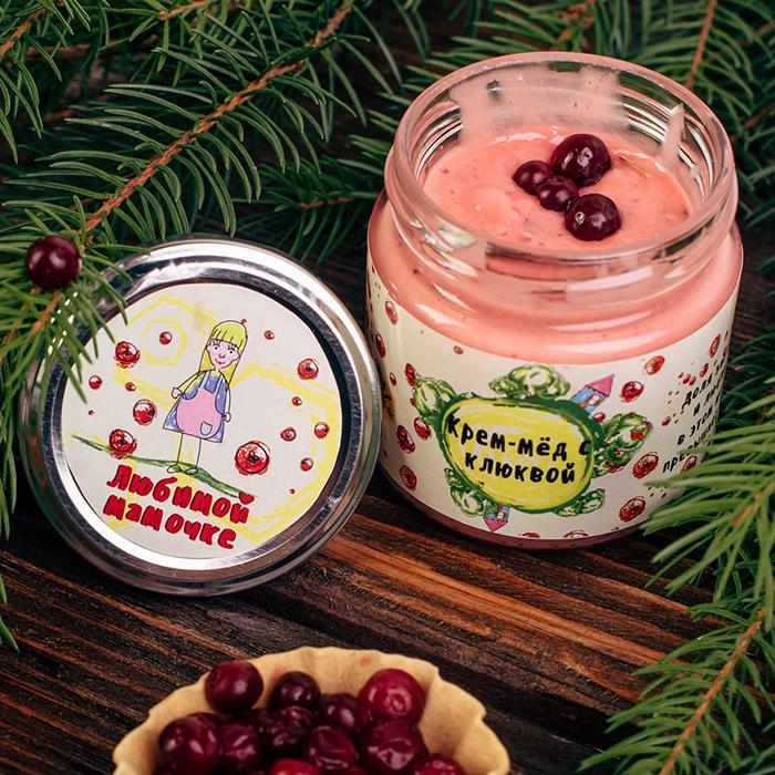 Купить крем-мед суфле в Перми ЛЮБИМОЙ МАМОЧКИ С КЛЮКВОЙ