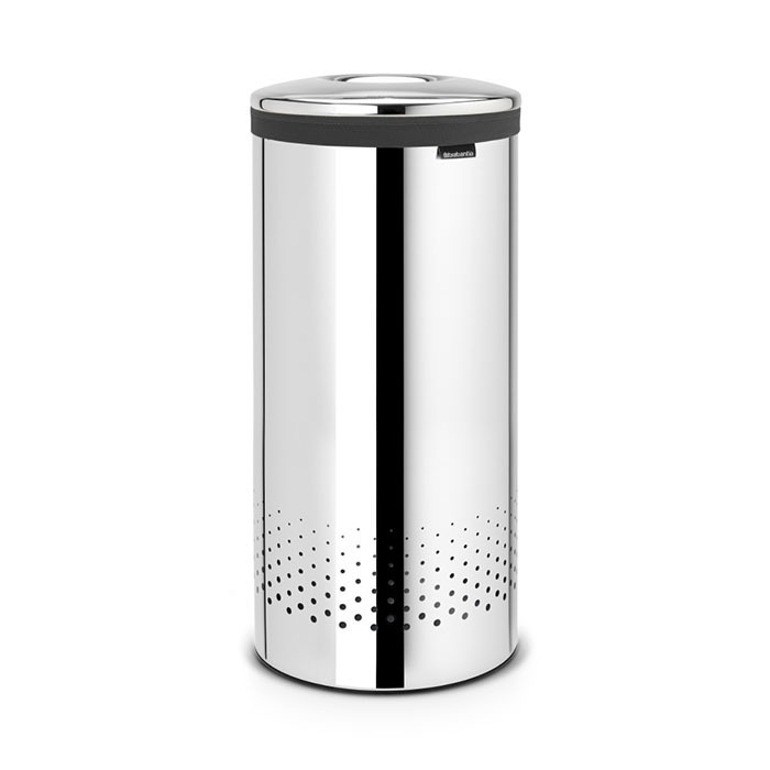 Бак для белья с металлической крышкой (35 л), Стальной полированный, арт. 105104 - фото 1