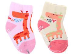308-1 Носочки для девочек, махровые,(2 шт.) ассорти