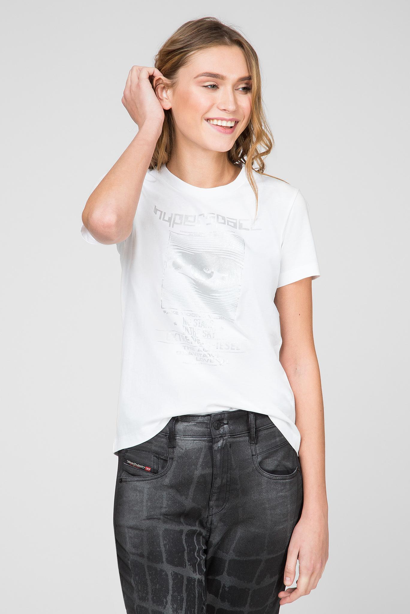 Женская белая футболка T-SILY-YB Diesel