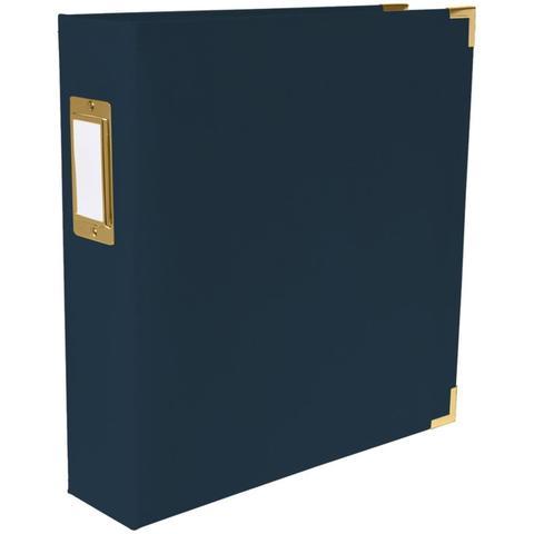 Папка на кольцах для фотографий Project Life 22х28 см - We R Paper Wrapped D-Ring Album- Темно-синий Navy
