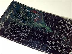 Металлизированные наклейки Arti nails Stiker цвет серебро №8