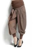 Брюки для беременных 02602 коричневый