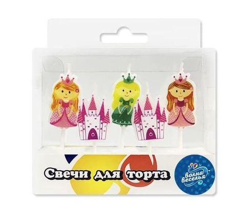 Свечи фигурные, Принцессы и Замок, 7 см, 5 шт.