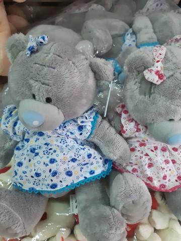 Мишка Тедди в платье в двух расцветках