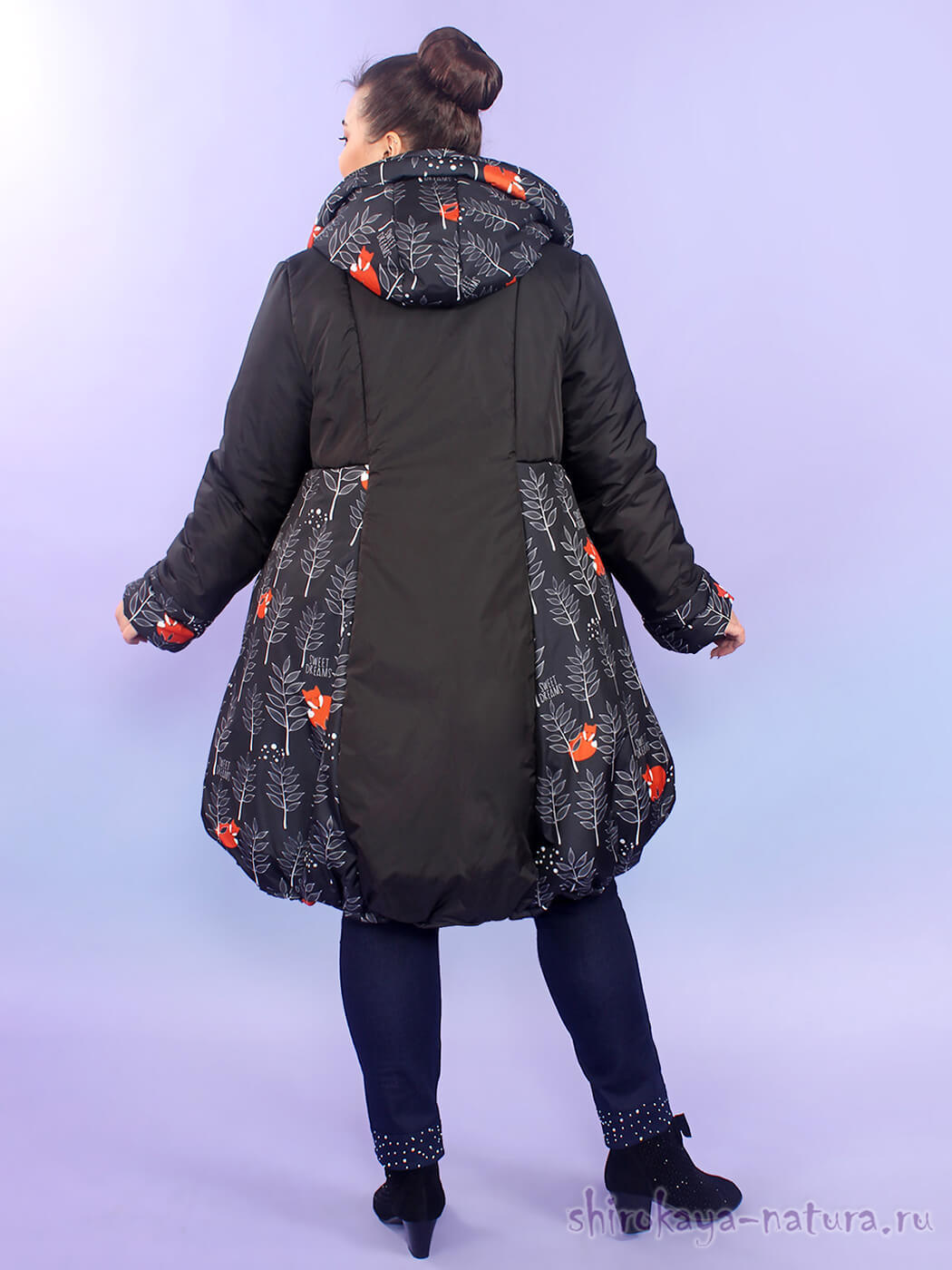 Пальто Лисички в зимнем лесу