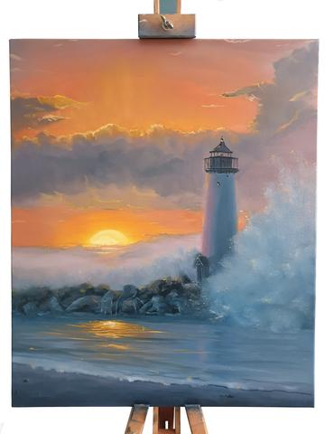 Закат у маяка