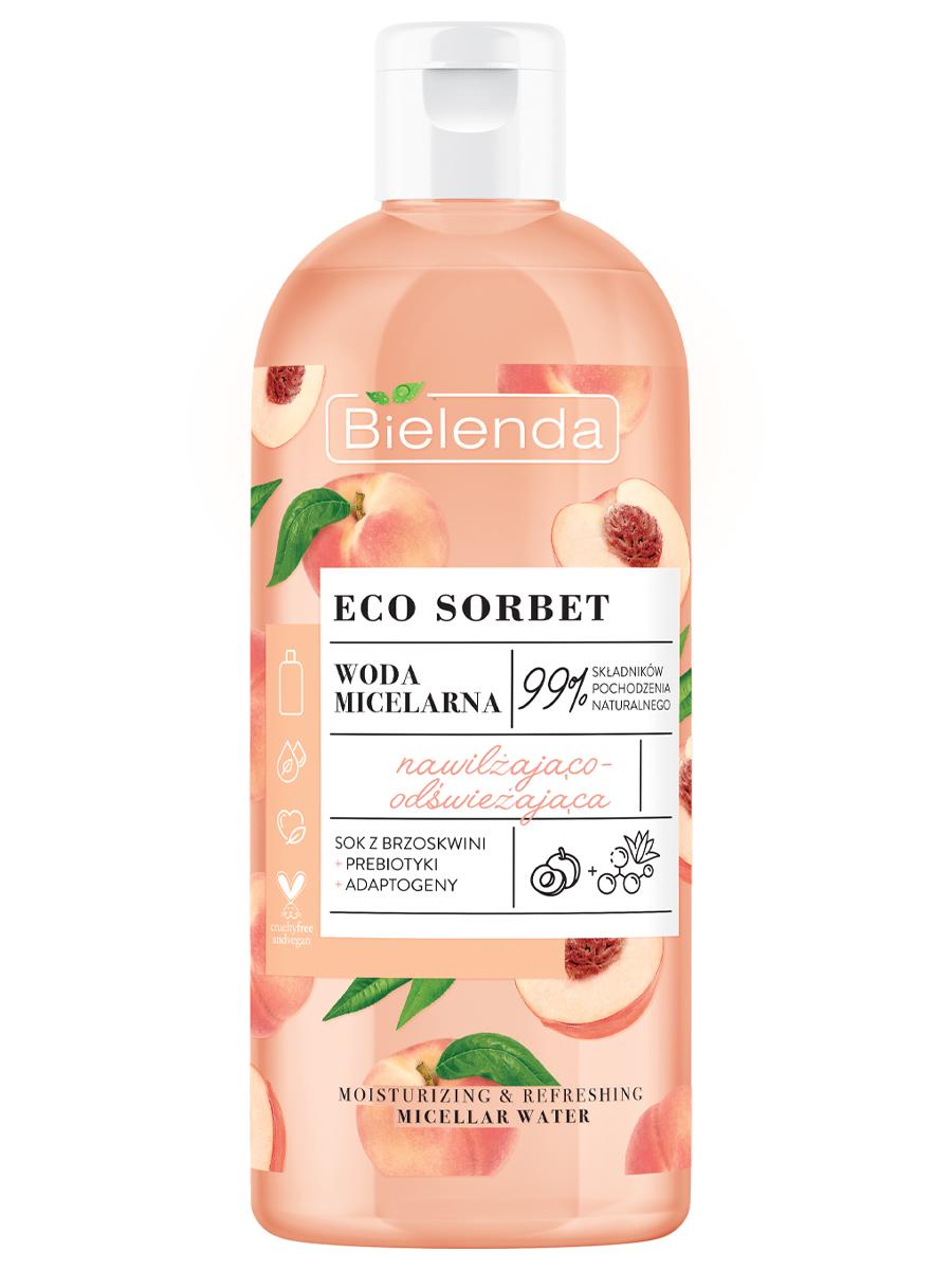 ECO SORBET Peach Мицеллярная вода увлажняющая и освежающая, 500 мл