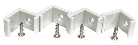 Профиль алюминиевый угловой квадратный, серебро, CAB281 2000x16x16мм