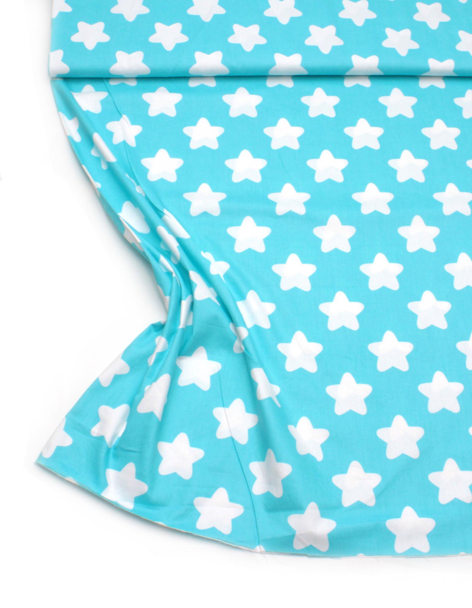 Звезды круглые на ярко голубом
