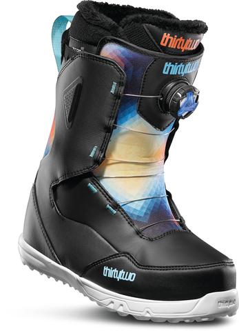 Ботинки сноубордические Thirtytwo Zephyr Boa W'S '19 - black/blue/white