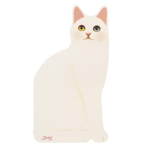 """Открытка """"Котик"""" белый"""