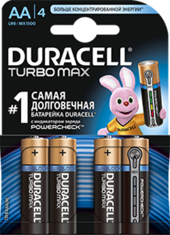 Батарейки Duracell Turbo LR6, AA (6/72) BL