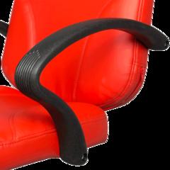 Парикмахерское кресло Бриз модерн гидравлика хром, пятилучье хром на подпятниках