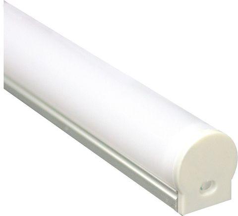 Профиль алюминиевый круглый узкий, серебро, CAB282 2000x20x16мм