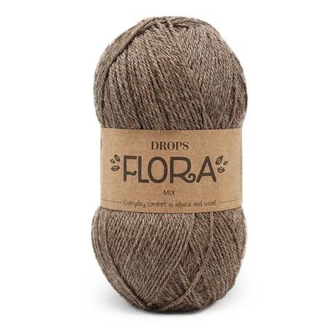 Пряжа Drops Flora 08 коричневый