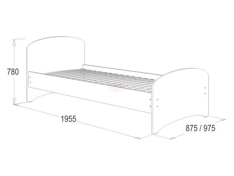 Кровать №4 одинарная
