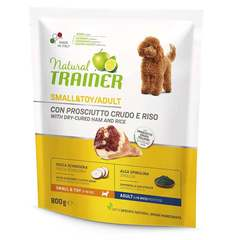Сухой корм Trainer Natural Small and Toy with dry-cured ham and rice