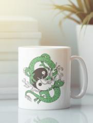 Кружка с изображением Дракон (Dragon) белая 006