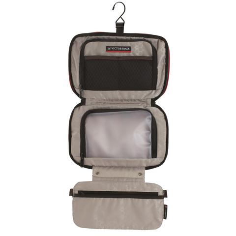 Несессер Victorinox Zip-Around Travel Kit, 3 отделения, красный, 28x8x18 см, 4 л