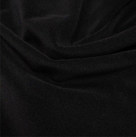 Бархат негорючий черный, ширина - 150 см., 450 гр./м2. арт. BR/9VN/45
