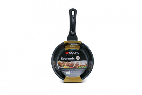 Сковорода Gochu Ecoramic 20 см с мраморным покрытием для индукционных плит без крышки