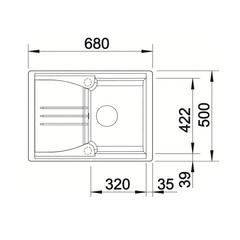 Схема Blanco Enos 40S Silgranit Антрацит