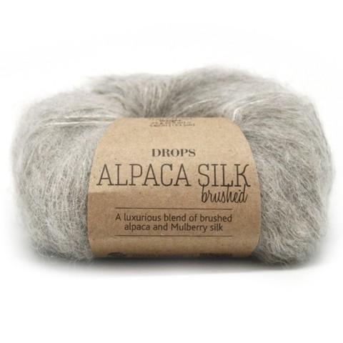 Пряжа Drops Brushed Alpaca Silk 02 светло-серый