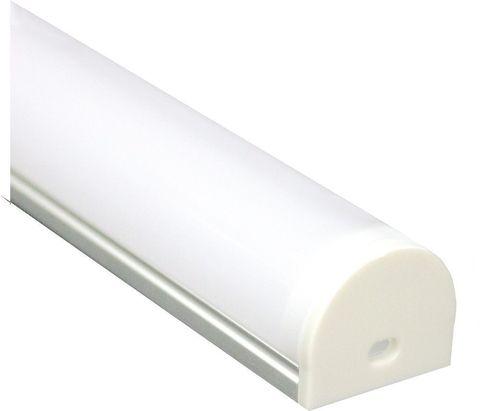 Профиль алюминиевый круглый узкий, серебро, CAB283 2000x20x24мм