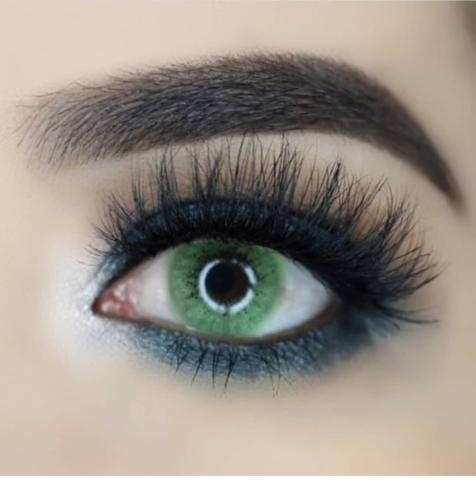 Ярко зеленые линзы для карих глаз (Южная Корея )