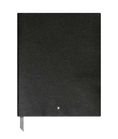 Записная книжка А4 черного цвета, линованные страницы MONTBLANC