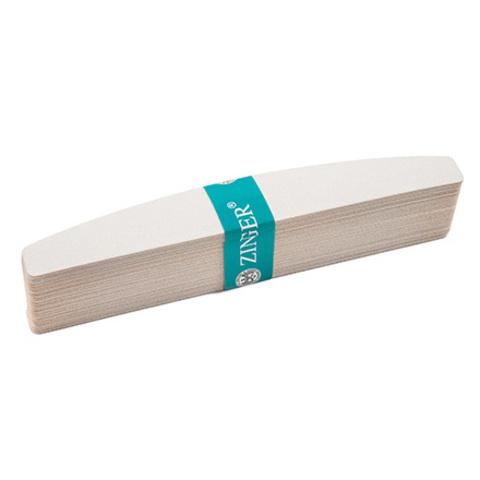 ZINGER Файлы 25шт. полуовальные, цвет белый,150 грит