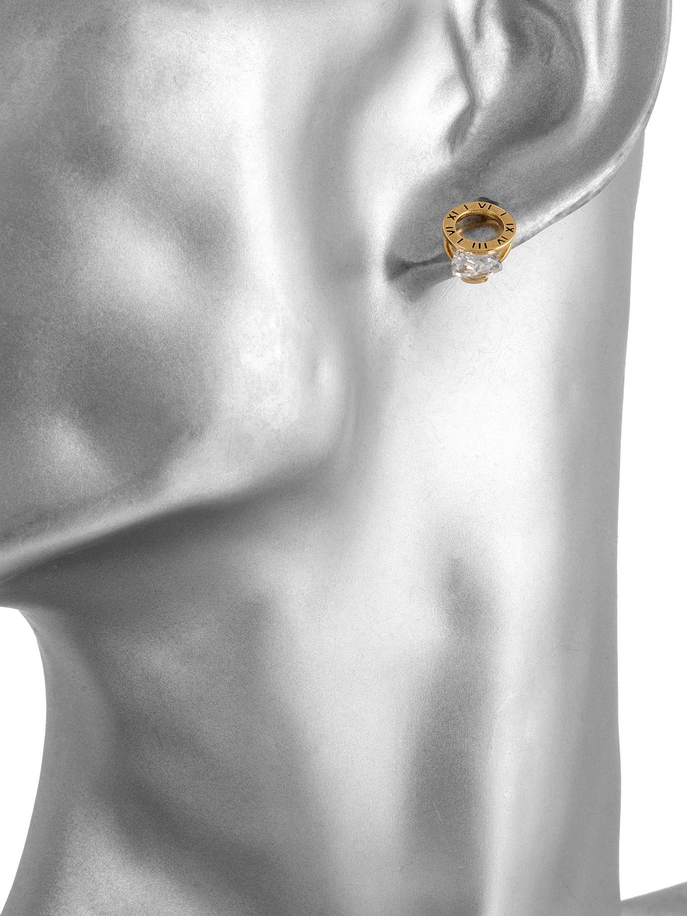 Серьги-пусеты с кристаллами