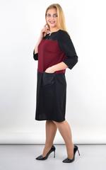 Есения. Оригинальное платье больших размеров. Бордо.