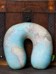 Подушка для шеи, подголовник Gekoko «Карта Мира», зеленая 4