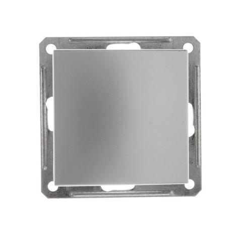 Переключатель одноклавишный перекрестный 16АХ. Цвет Матовый хром. Schneider Electric Wessen 59. VS716-158-5-86
