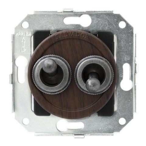 Выключатель тумблерныйный четырёх позиционный для внутреннего монтажа проходной серии