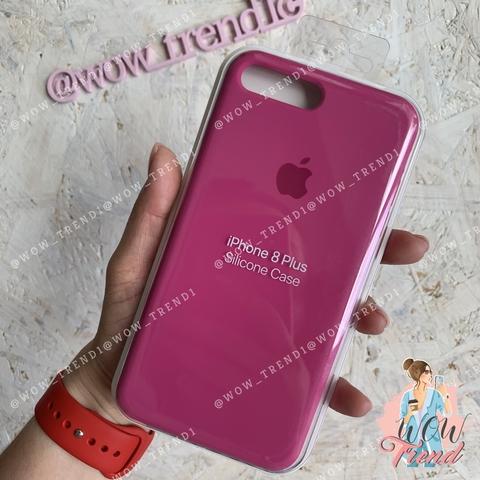 Чехол iPhone 7+/8+ Silicone Case /dragon fruit/ тёмная фуксия 1:1