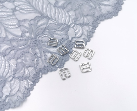 Крючки, ОПТ, 10мм, металл, серебро, премиум-класс (Арт: KR/10K-PS), 50 шт