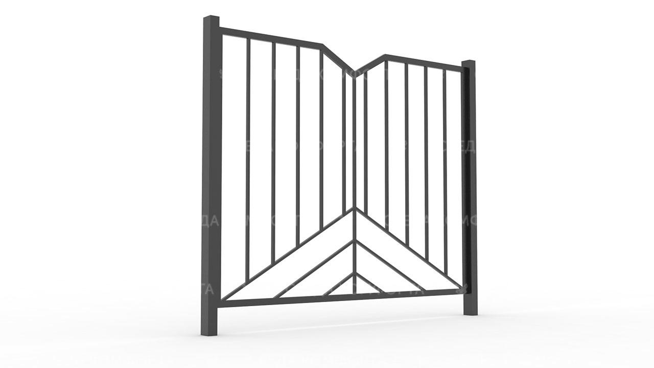 Забор из профильной трубы ZBR0163