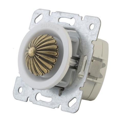 Выключатель с регулятором яркости для внутреннего монтажа (диммер). Цвет Белый. Salvador. CLDMWT