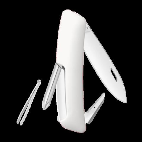 Швейцарский нож SWIZA D02 Standard, 95 мм, 6 функций, белый