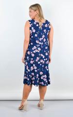 Ваніла. Ніжна сукня плюс сайз. Синій.