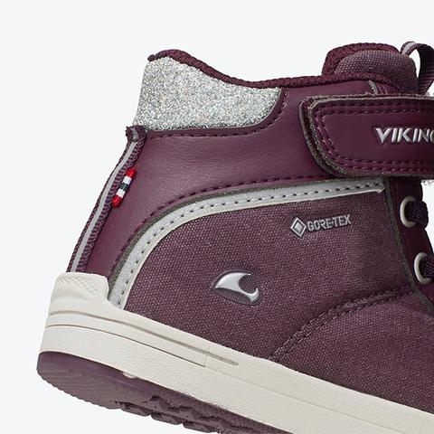 Демисезонные ботинки Viking Laila Mid GTX Plum