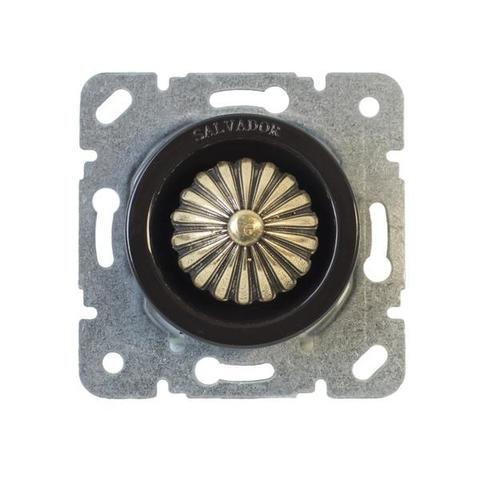 Выключатель с регулятором яркости для внутреннего монтажа (диммер). Цвет Коричневый. Salvador. CLDMBR